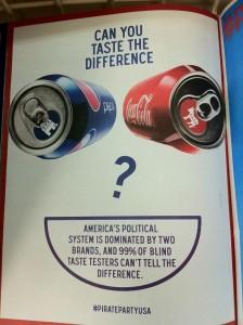 """מה הטעם בפוליטיקה ישנה? [פוסטר מפלגת הפיראטים בארה""""ב]"""