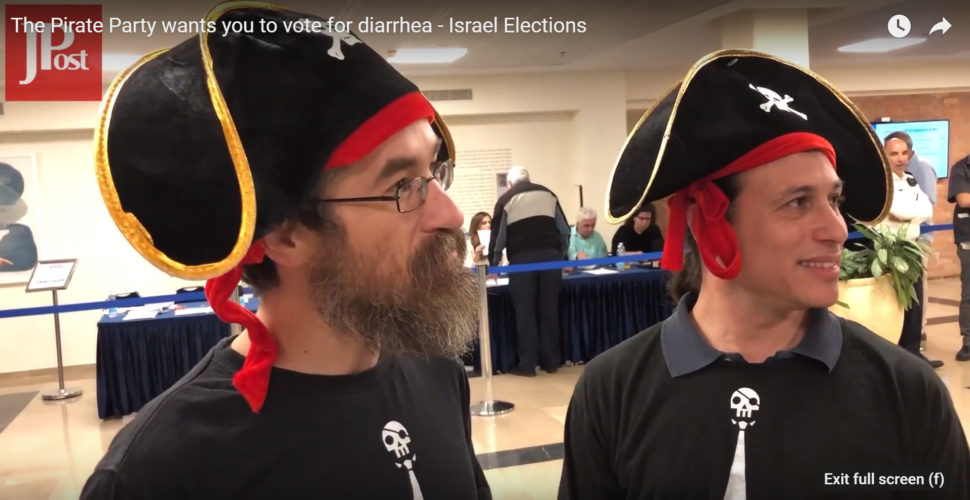 THE PIRATE PARTY WANTS YOU TO VOTE FOR DIARRHEA